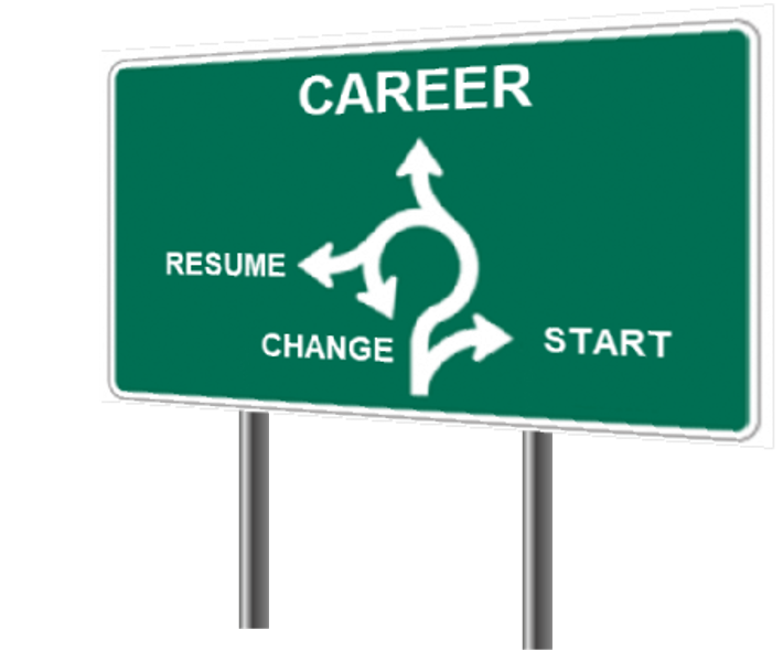 starting, creating or resuming a career sign image